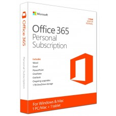 Microsoft Office 365 - Personal: 1 User, 1 Year Subscription